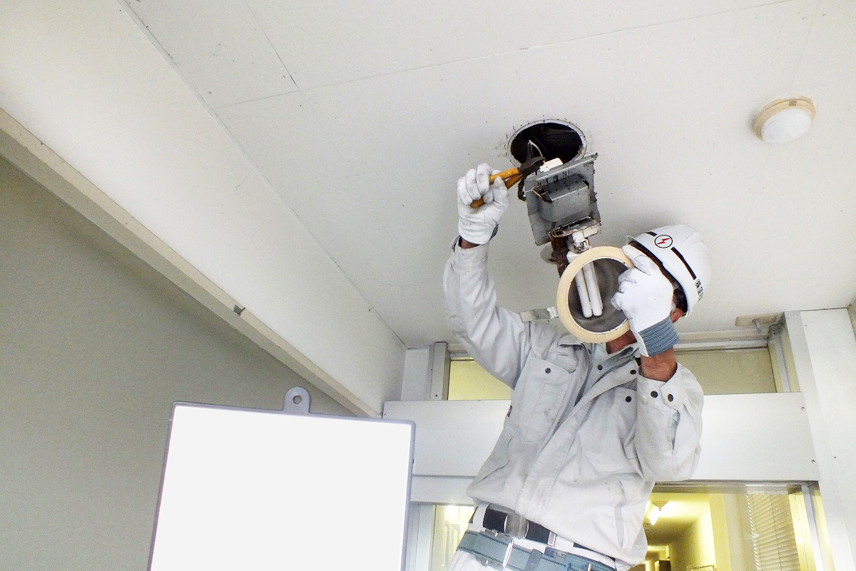 M社様倉庫 LED照明更新工事